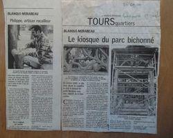 Philippe Le Feron - Tours - Mes réalisations - Kiosque Mirabeau, Tours